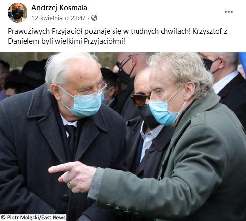 Andrzej Kosmala wspomina Krzysztofa Krawczyka