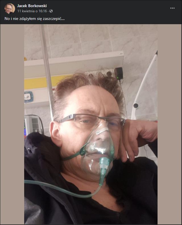 Jacek Borkowski trafił do szpitala