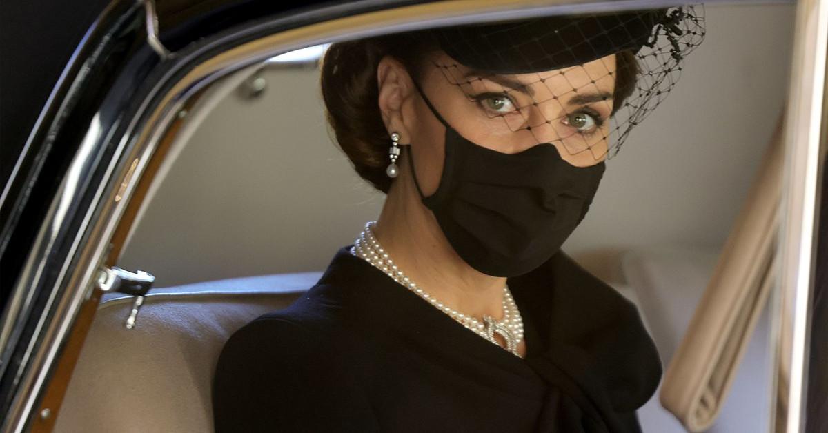 księżna Kate na pogrzebie