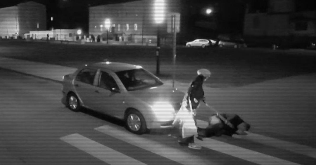 Seniorka zaatakowała pirata drogowego