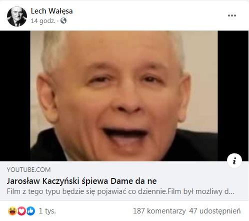 Duda śpiewa u Wałęsy 2