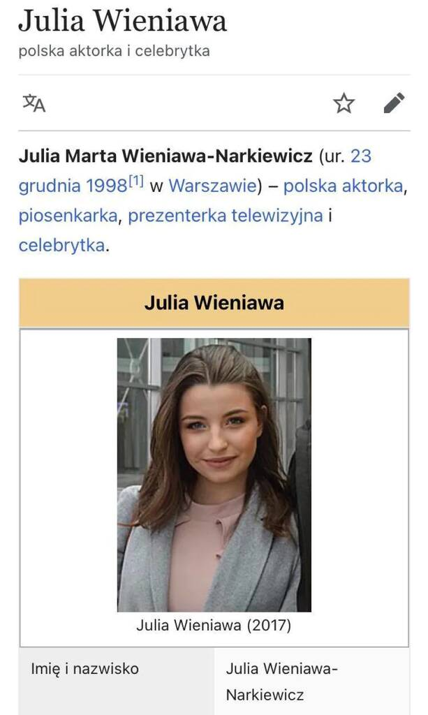 Julia Wieniawa narzeka na zdjęcie