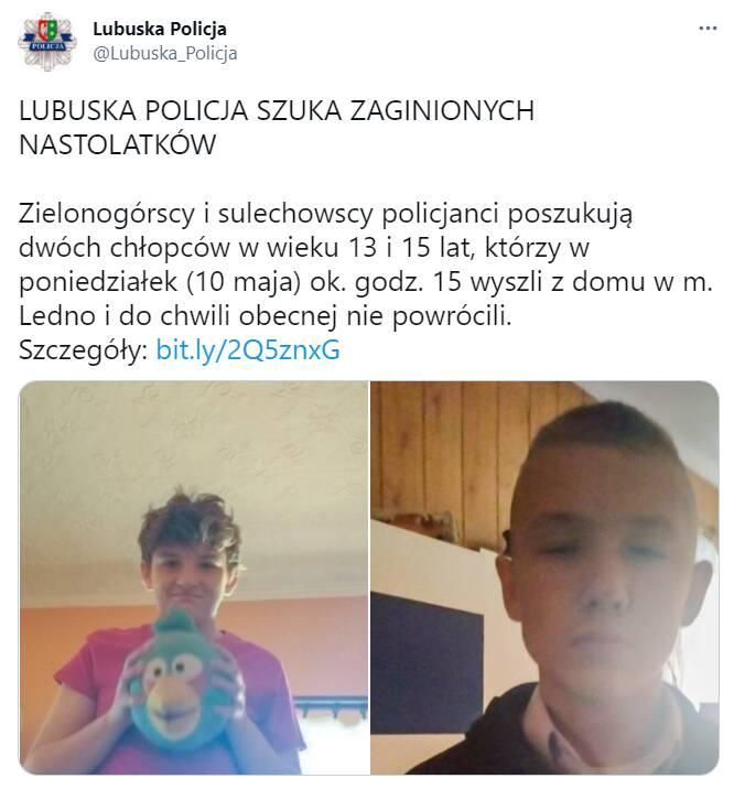 Tragiczny finał poszukiwań zaginionych chłopców