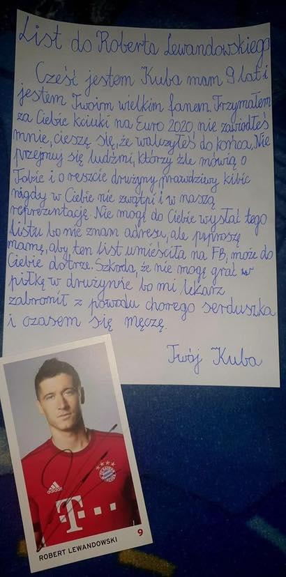 9-latek napisał poruszający list do Lewandowskiego