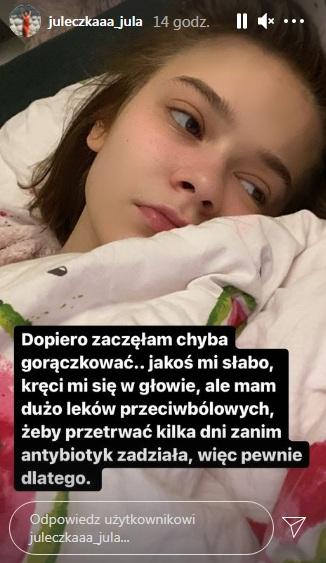 Julia Wróblewska w szpitalu 2