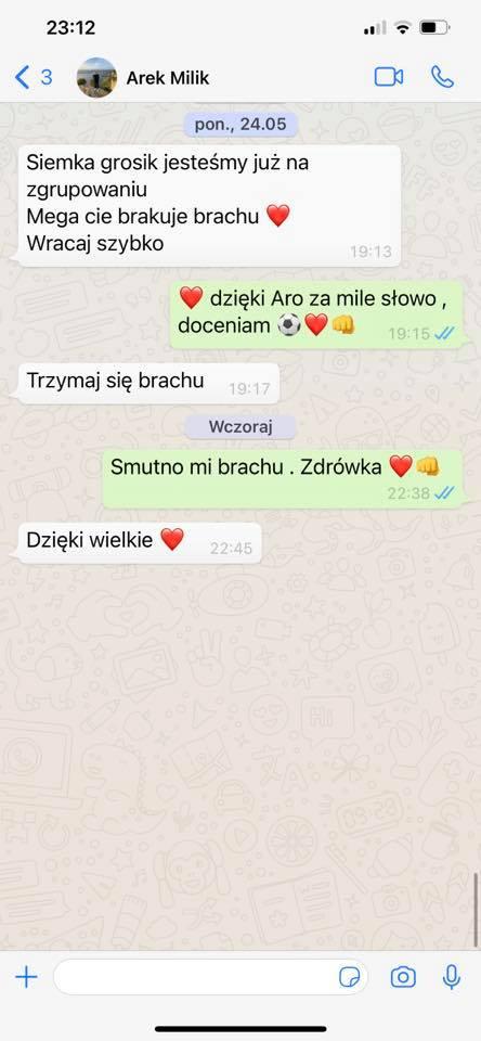 Kamil Grosicki ujawnił tajne SMS z Glikiem