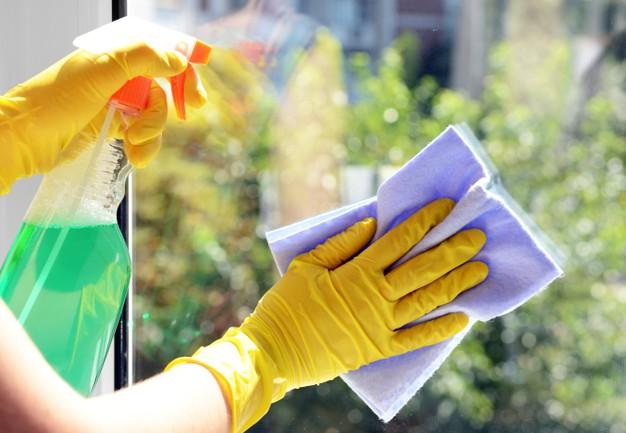 studentka myła okna w szortach 3
