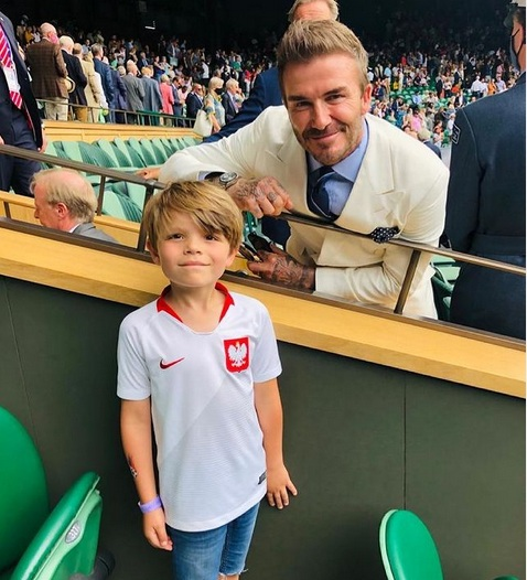 David Beckham z polskim kibicem