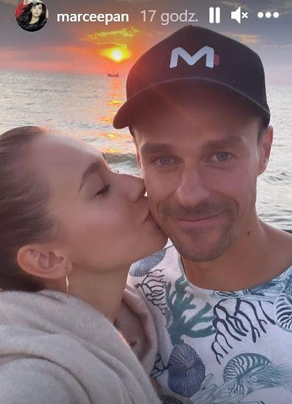 Piotr Żyła i Marcelina Ziętek na romantycznym zdjęciu