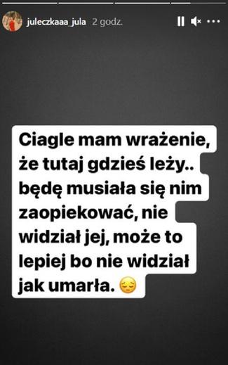 Julia Wróblewska w żałobie