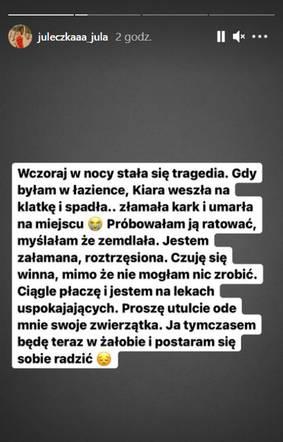 Julia Wróblewska w żałobie 3
