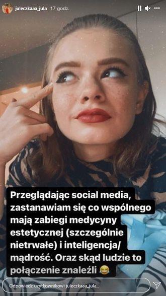 Julia Wróblewska odpowiada hejterom 2