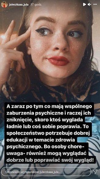 Julia Wróblewska odpowiada hejterom 3