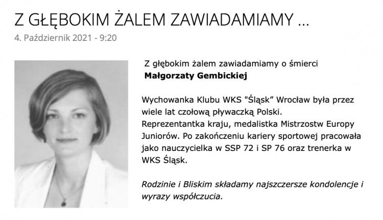 Nie żyje wybitna polska pływaczka
